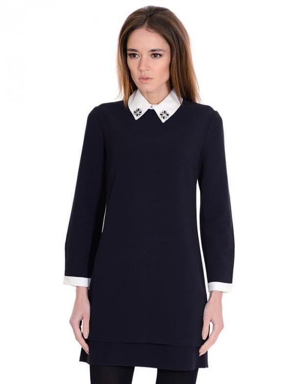 Школьное платье для старшеклассниц с длинными рукавами