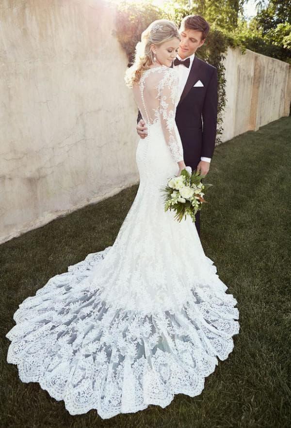 Букет под кружевное свадебное платье