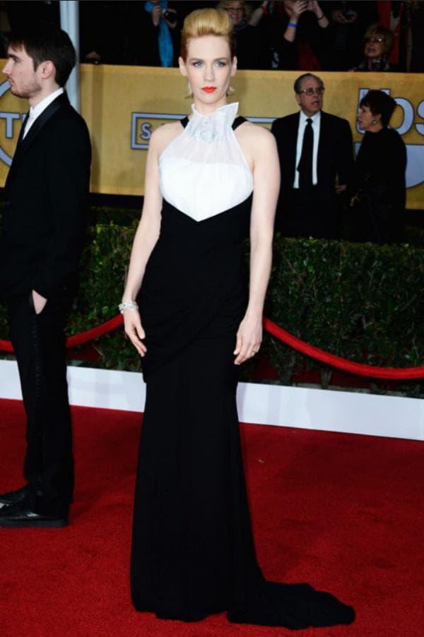 Вечернее платье белый верх чёрный низ