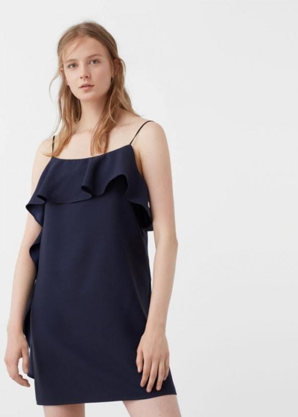 НЕдорогое платье с воланами на плечах