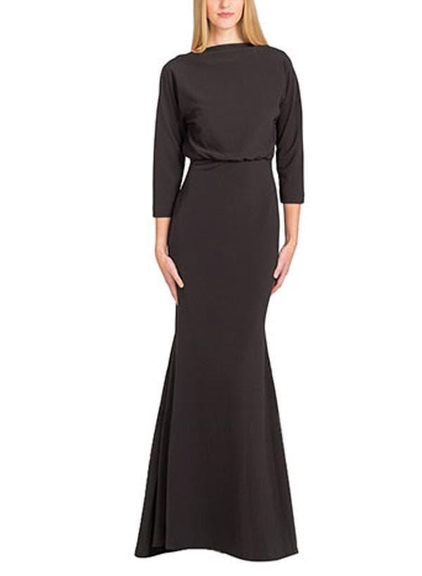 Чёрное вечернее платье русалка