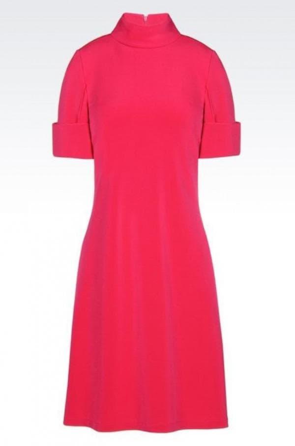 Красное повседневное платье