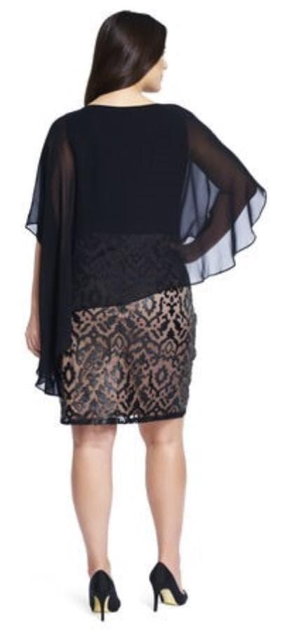Платье миди с асимметричным воланом на плечах