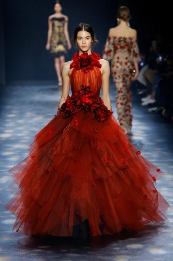 Красное бальное платье Марчеза