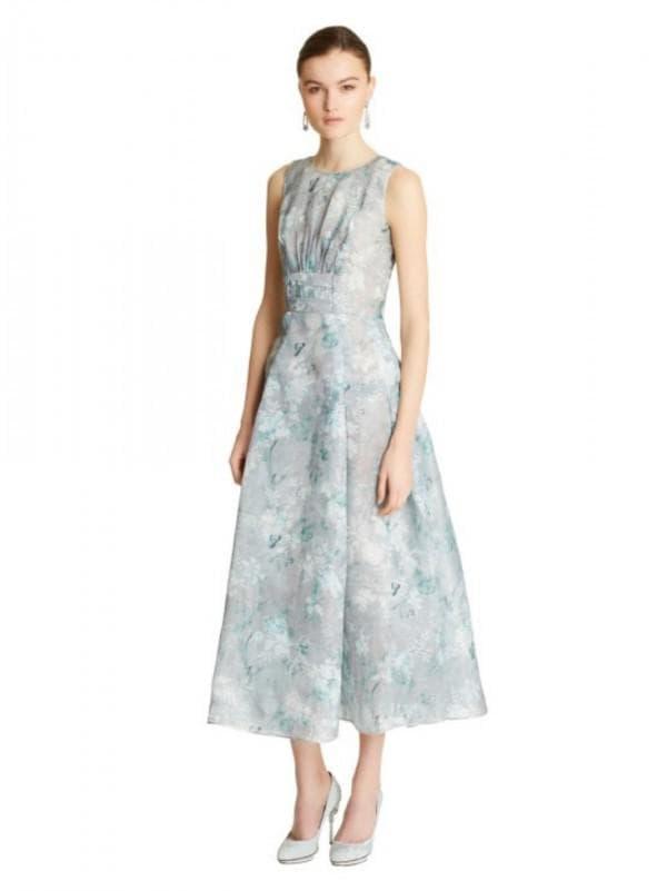 Платье миди пастельного цвета