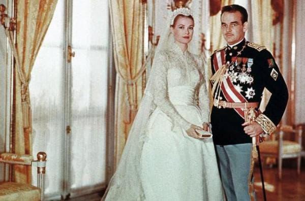 Грей Келли с супругом на свадьбе