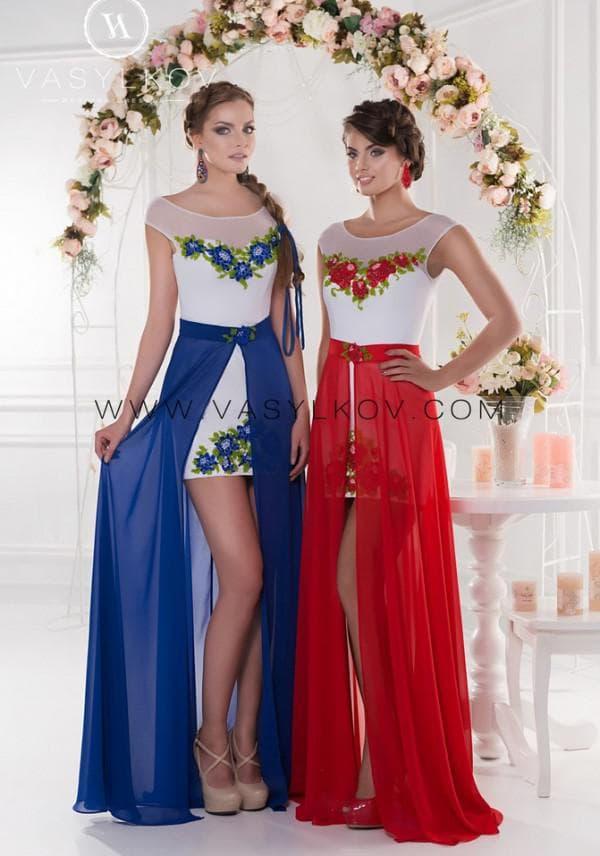 Вечернее платье в украинском стиле