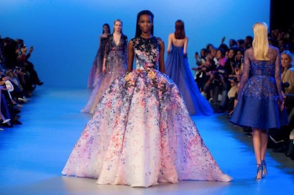 Пышное платье в цветок