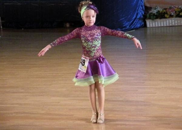 Платье для девочки спортивно бальные танцы