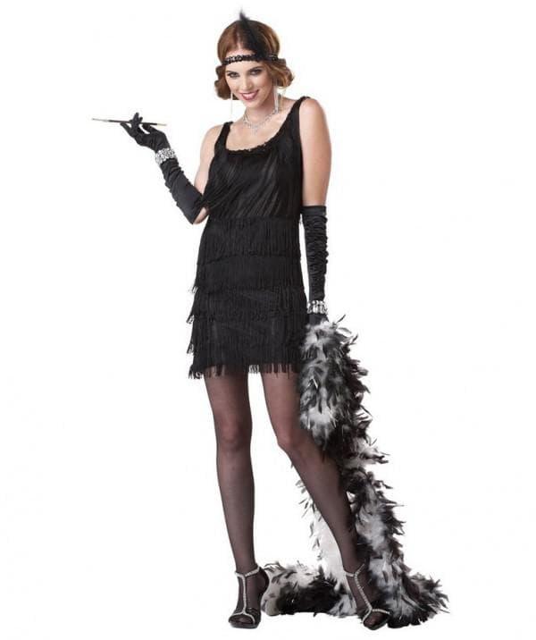 Чёрное платье в стиле гэтсби
