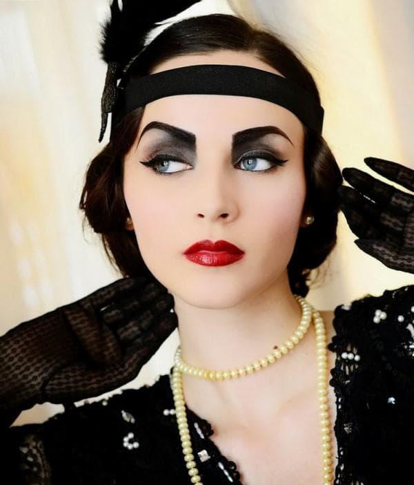 Прическа и макияж в стиле Гэтсби