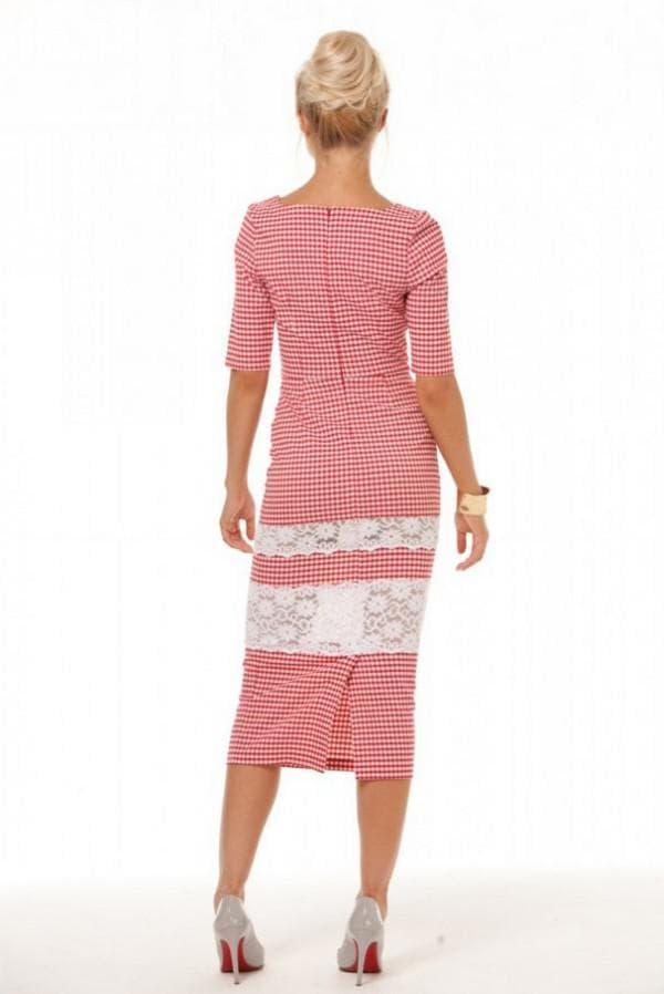 Как удлинить платье кружевными полосками