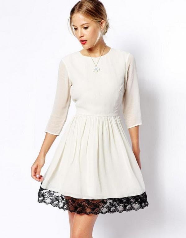 Как белое платье улинить черным кружевом