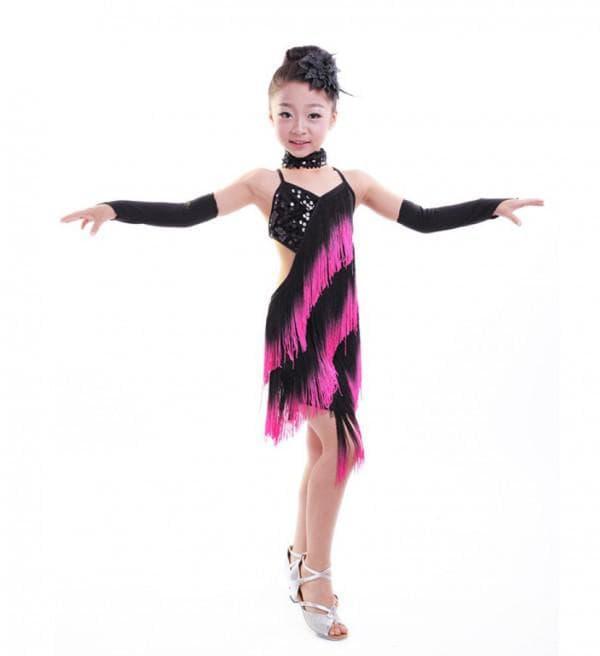 Платье для латино-американских танцев для девочек