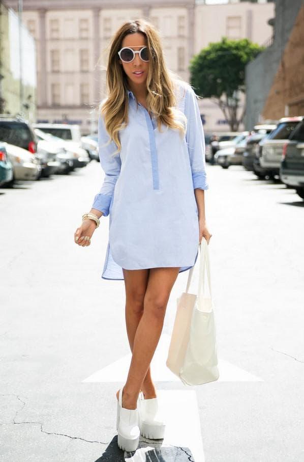 Летний образ с платьем рубашкой