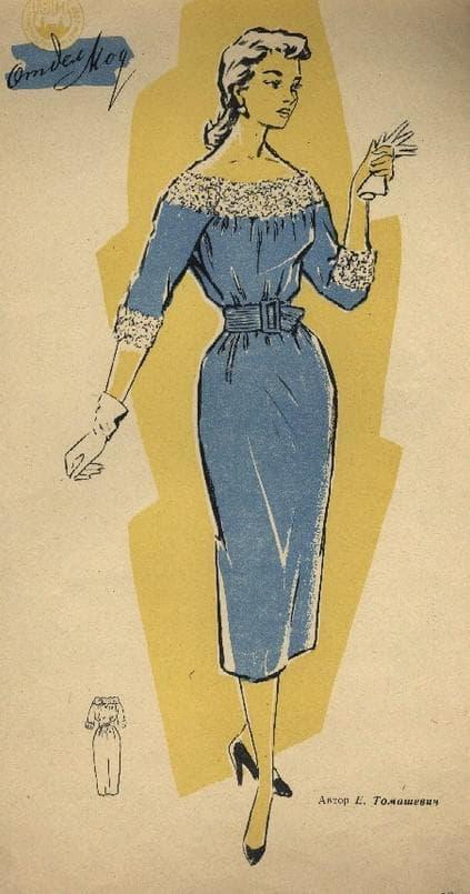 Модель платья барышня крестьянка для пошива