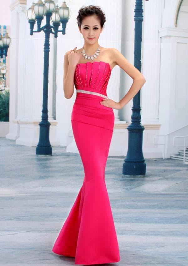 Розовое платье рыбка