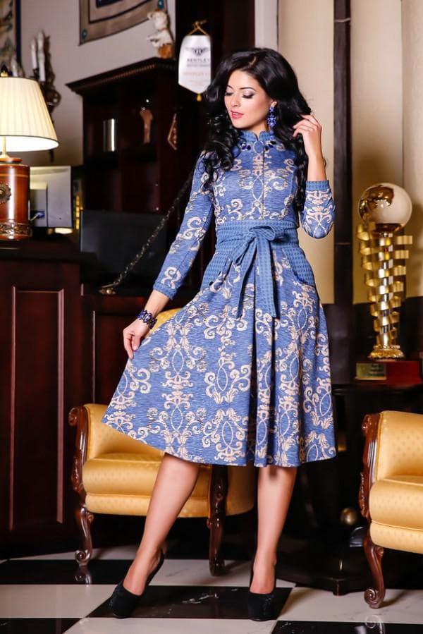 Дизайнерское платье в цветочек