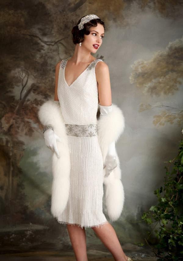 Белое платье в стиле Великий Гэтсби