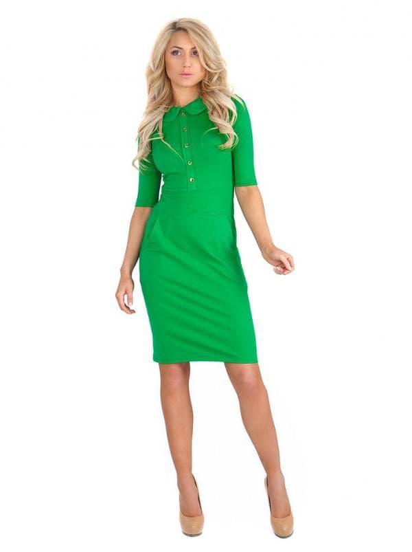 Зеленое платье для работы