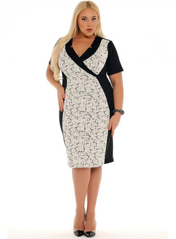 Платье футляр для полной женщины