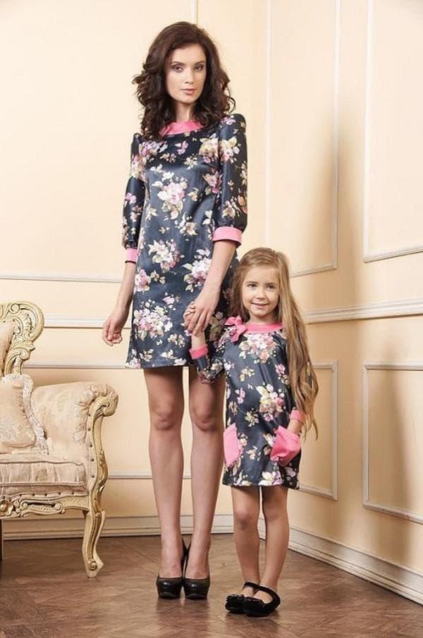 Одинаковые платья для мамы и дочки на каждый день