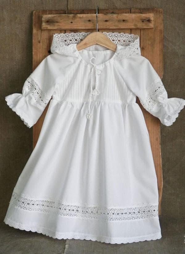 Белое крестильное платье