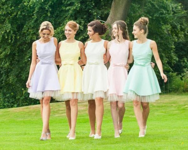 Платья в стиле стиляг для подруг невесты