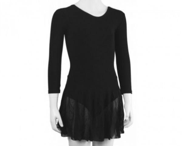 Чёрное платье для бальных танцев