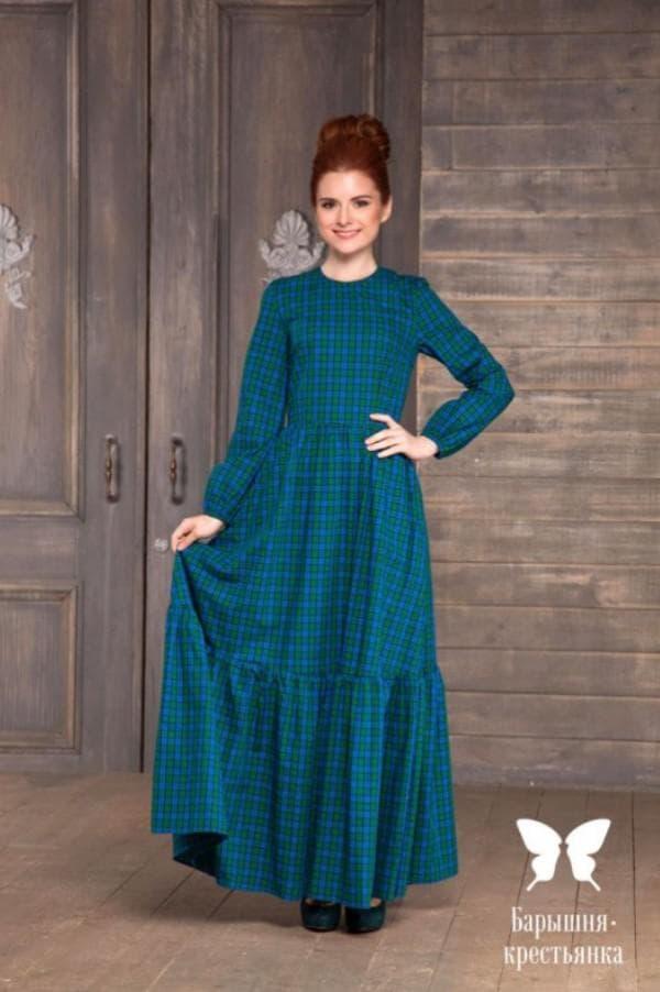 Длинное платье барышня крестьянка