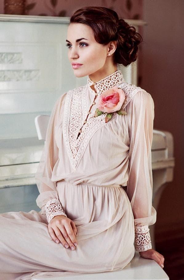 Розовое платье в стиле прованс для женщин от 40