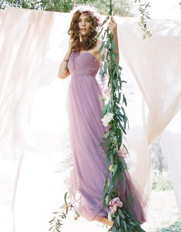 Вечернее платье в стиле прованс