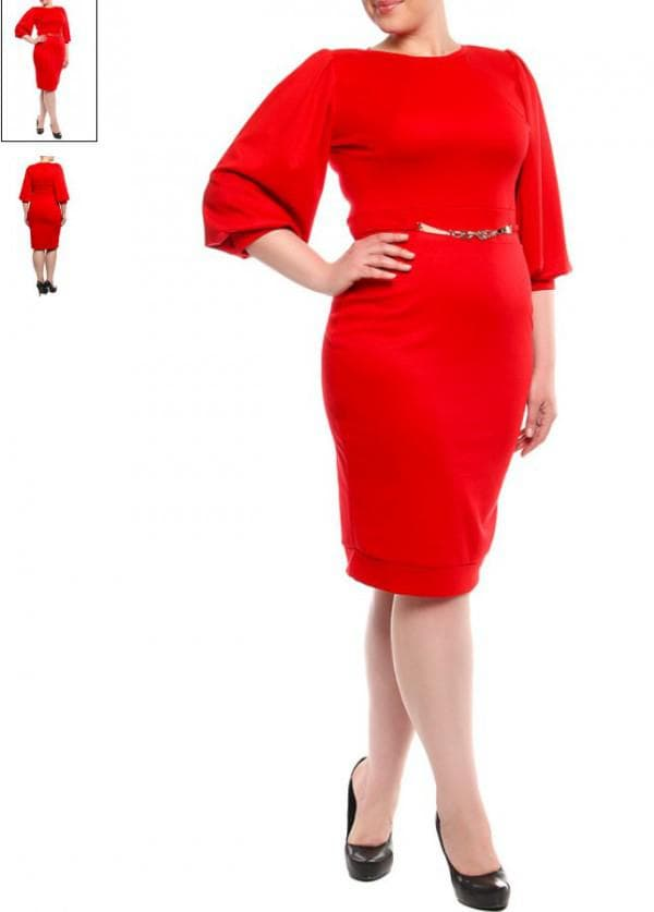 Красное платье на новый год большого размера