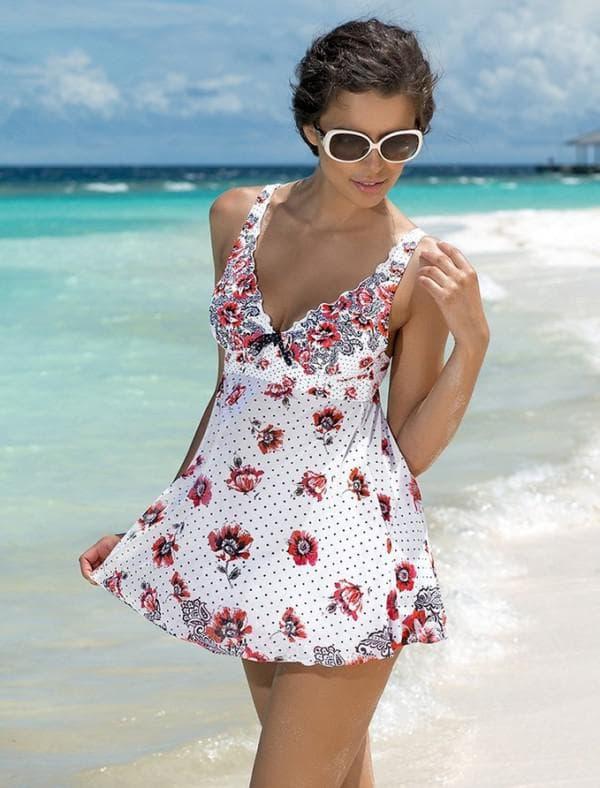 Цветное платье купальник
