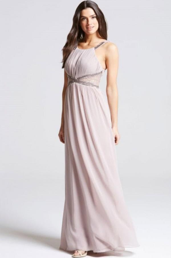 Нежное платье в пол на выпускной