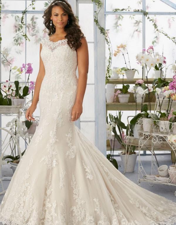 Свадебное платье рыбка сайз +