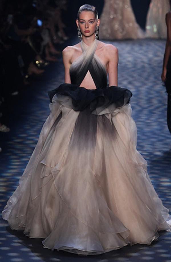 Лучшее вечернее платье с градиентным рисунком