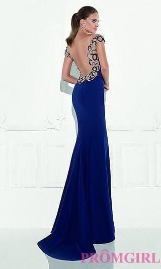 Длинное платье с открытой спиной на выпускной