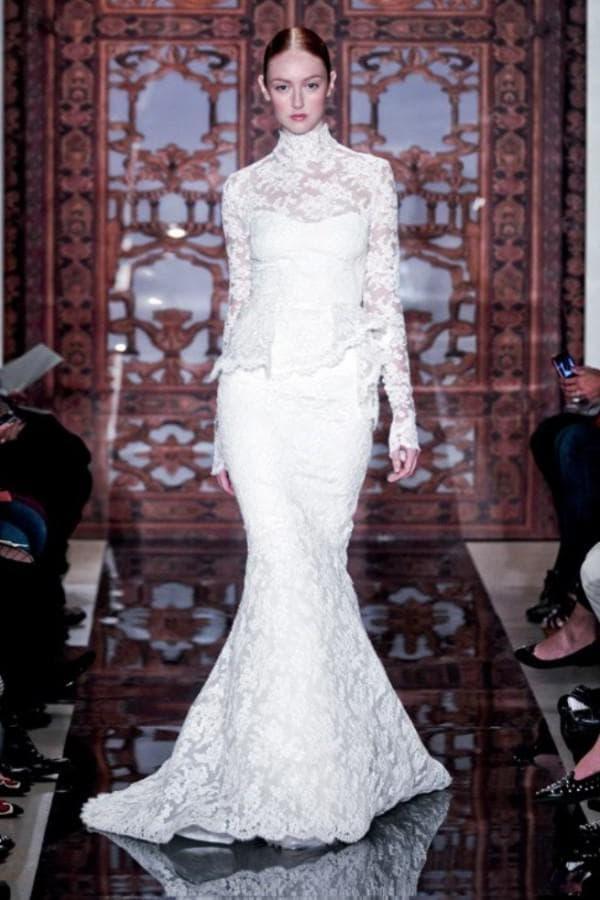 Роскошное венчальное платье в пол