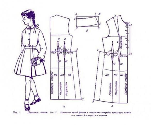 Выкройка школьного платья на последний звонок