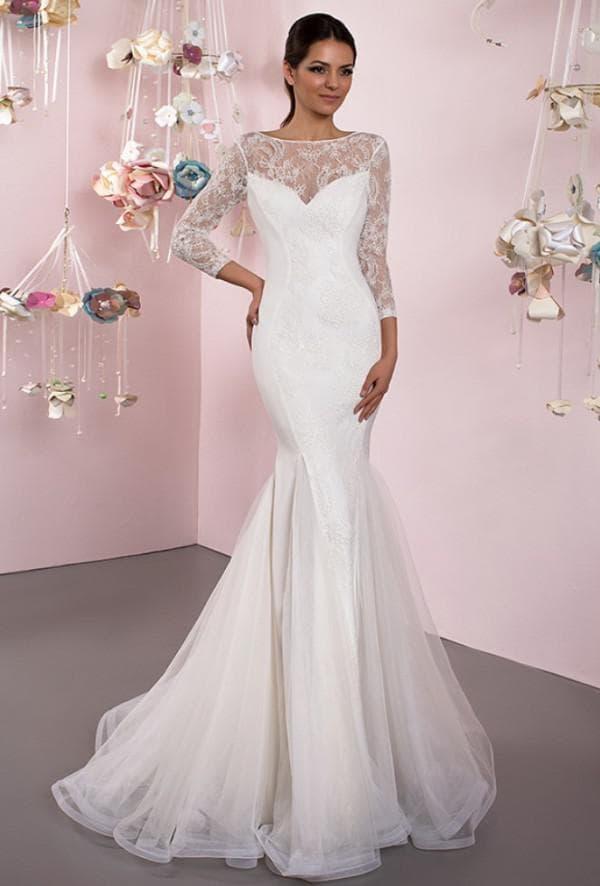 Длинное платье русалка для венчания