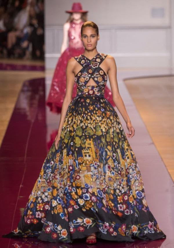 Цветное вечернее платье Zuhair Murad