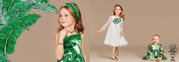 Платья с зеленым принтом