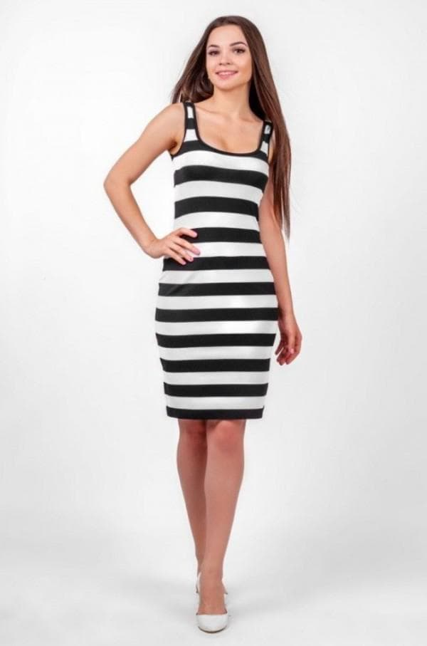 Платье тельняшка майка