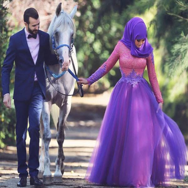 Модное мусульманское свадебное платье