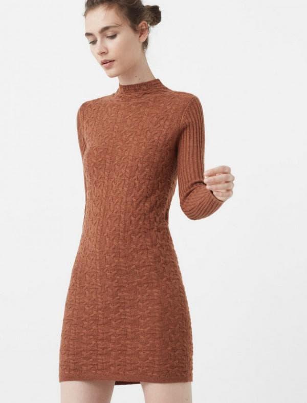 Трикотажное платье Манго