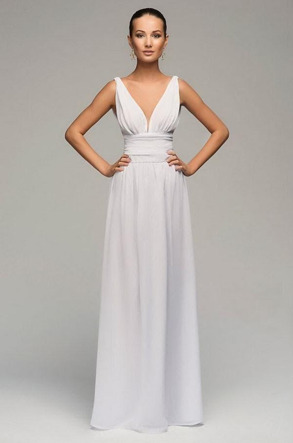 Платье в пол из шифона своими руками