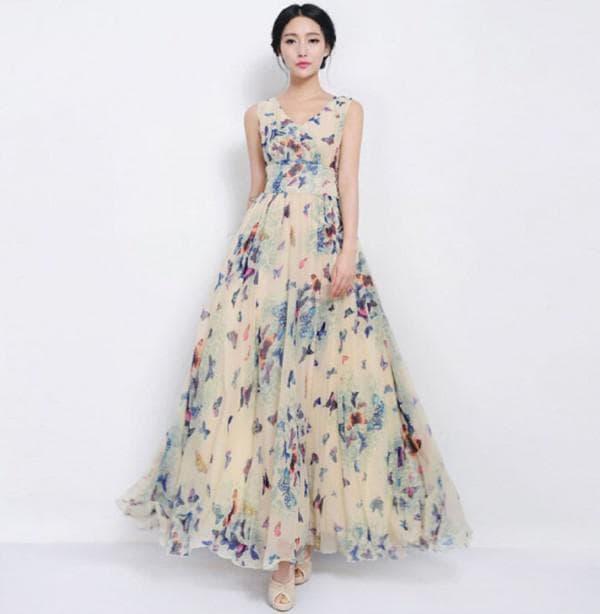 Вечернее платье в цветочек