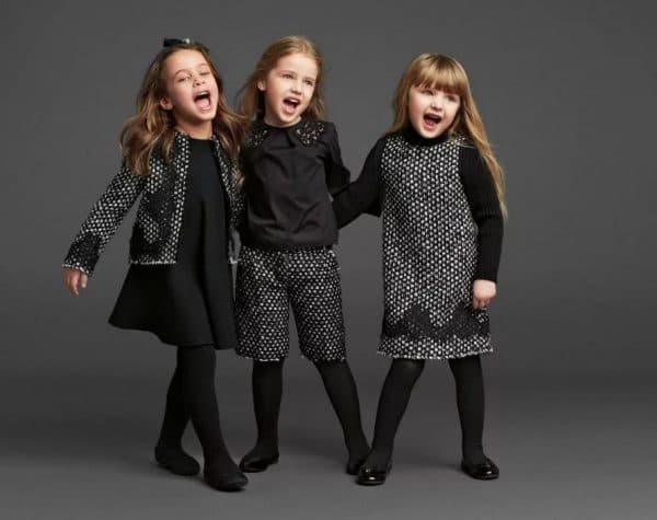 Черные повседневные детские платья