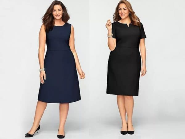 Однотонные платья в оисном стиле для женщин после 50 лет